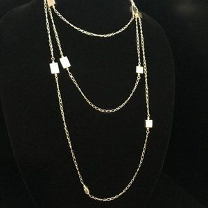 """Thailand 925 Sterling 74"""" Necklace"""
